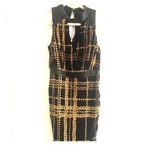 Thalia sodi chain pattern dress